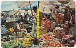 Tlacolula - Dos Vistas Mercado - Two Views Of The Outdoor Market - (Oaxaca, Mexico) - Mexico
