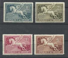 URUGUAY  YVERT AEREO  56/59   MH  * - Uruguay