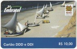 BRASIL G-663 Prepaid Embratel - Leisure, Sailing - Used - Brasilien