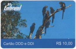 BRASIL G-669 Prepaid Embratel - Animal, Bird, Parrot - Used - Brasilien