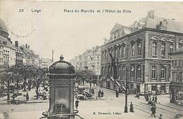 X117556 BELGIQUE LIEGE PLACE DU MARCHE ET L' HOTEL DE VILLE SUCCURSALE DU PALAIS DES MERVEILLES A DROITE - Liege