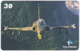 BRASIL H-082 Magnetic Telemar - Military, Aircraft - Used - Brasilien
