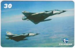 BRASIL H-084 Magnetic Telemar - Military, Aircraft - Used - Brasilien