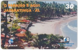 BRASIL H-128 Magnetic Telemar - Landscape, Coast - Used - Brasilien