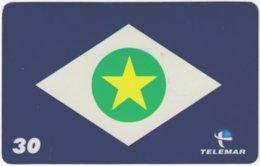 BRASIL H-147 Magnetic Telemar - Flag Of Culaba - Used - Brasilien