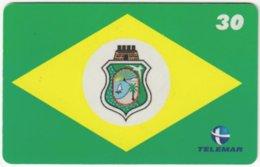 BRASIL H-149 Magnetic Telemar - Flag Of Fortaleza - Used - Brasilien