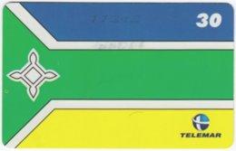 BRASIL H-150 Magnetic Telemar - Flag Of Macapa - Used - Brasilien