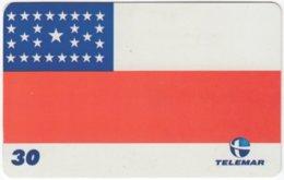 BRASIL H-151 Magnetic Telemar - Flag Of Manaus - Used - Brasilien
