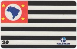 BRASIL H-152 Magnetic Telemar - Flag Of Sao Paulo - Used - Brasilien
