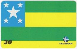 BRASIL H-153 Magnetic Telemar - Flag Of Aracuja - Used - Brasilien