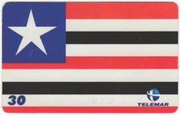 BRASIL H-154 Magnetic Telemar - Flag Of Sao Luis - Used - Brasilien