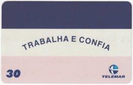 BRASIL H-156 Magnetic Telemar - Flag Of Vitoria - Used - Brasilien