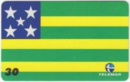 BRASIL H-157 Magnetic Telemar - Flag Of Goiania - Used - Brasilien