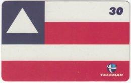 BRASIL H-159 Magnetic Telemar - Flag Of Salvador - Used - Brasilien