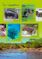 Togo  2014  Fauna  Hippopotamuses - Togo (1960-...)