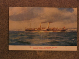 NEW PALACE STEAMERS OFFICIAL PADDLE STEAMER KOH-I-NOOR APPROACHING DOVER - Steamers