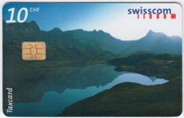 SWITZERLAND A-846 Chip Swisscom - Landscape, Lake, Dam - Used - Schweiz