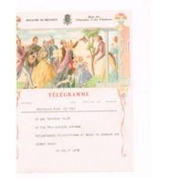 Télégramme De BRUXELLES Pour NANINNE. Mariage. - Télégraphes