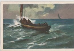 Cartolina Viaggiata - Sent -  Pittorica, Barca In Tempesta - Pittura & Quadri