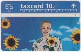 SWITZERLAND A-997 Hologram PTT - People, Woman, Plant, Sunflower - 507A - Used - Schweiz