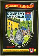 AUTOCOLLANT SUR CARTE POSTALE - TOURISME - DOMREMY LA PUCELLE - Stickers