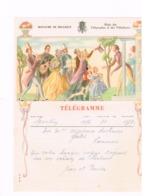Télégramme De SPONTIN Pour NANINNE. Mariage. - Télégraphes
