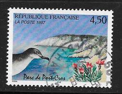 FRANCE 3057 Parc De Port-Cros Tête De Puffin Et Lavande Maritime Oiseau  . - Used Stamps