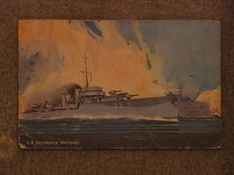 HMS WHITSHED - SALMON ART CARD - Warships