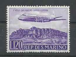 SAN MARINO YVERT AEREO 117  MNH  ** - Corréo Aéreo