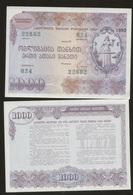 Georgia Loan Bons 1000 Rubles 1992 UNC - Géorgie