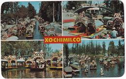 Xochimilco - Jardines Flotantes - Floating Gardens - 4 Aspects - (Mexico) - Mexico
