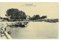 CPA 54 FOUG LE PORT DU CANAL DEPUIS LES TRAVAUX - Foug