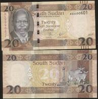 South Sudan 20 Pound 2017 Pick NEW UNC - Soudan