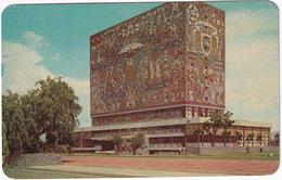 México - Ciudad Universitaria De Mexico : Biblioteca Central - Murals - (Mexico) - Mexico