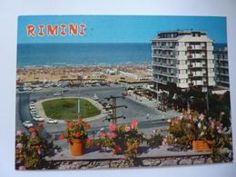 """Cartolina Viaggiata """"RIMINI Piazza Tripoli"""" 1980 - Rimini"""
