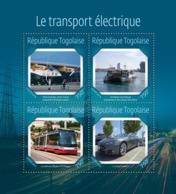 Togo  2014  Electric Transport,The Solar Impulse, Aircraft Powered By Solar Energy, Electric Tour Boat - Togo (1960-...)