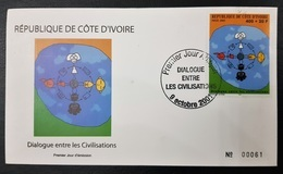 OFFER COTE D'IVOIRE IVORY COAST 2001 JOINT ISSUE - DIALOGUE AMONG CIVILIZATIONS DIALOG CIVILISATIONS - FDC - ULTRA RARE - Emissions Communes