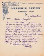 84 JONQUIERES COURRIER 1935 Fruits Légumes MARSEILLE ARTHUR  X31  Vaucluse C/ SORGUES - France
