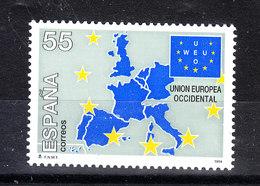 Spagna   - 1994. Mappa Della Unione Europea. Bandiera. Map Of The European Union. Flag. MNH - Comunità Europea