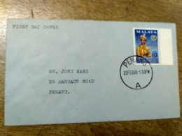 Malaysia Kedah Sultan FDC Old Cover 1959 Installation 10c - Malaysia (1964-...)