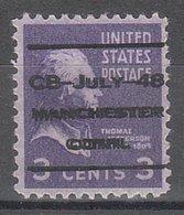 USA Precancel Vorausentwertung Preo, Locals Connecticut, Manchester L-3 ITS - Vereinigte Staaten