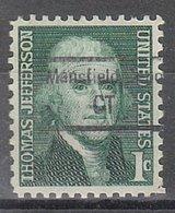 USA Precancel Vorausentwertung Preo, Locals Connecticut, Mansfield Depot 848,5 - Vereinigte Staaten