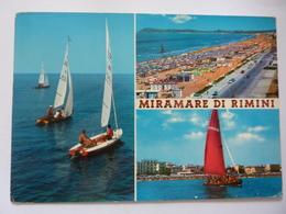 """Cartolina Viaggiata """"MIRAMARE DI RIMINI"""" 1968 - Rimini"""