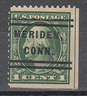 USA Precancel Vorausentwertung Preo, Locals Connecticut, Meriden L-1 E - Vereinigte Staaten