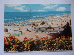 """Cartolina Viaggiata """"MIRAMARE DI RIMINI  La Rotonda E La Veduta Della Spiaggia"""" 1963 - Rimini"""