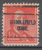 USA Precancel Vorausentwertung Preo, Locals Connecticut, Middlefield 704 - Vereinigte Staaten