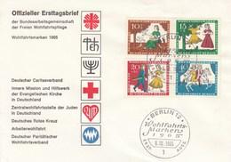 FDC  485 - 488 - 1965 Wohlfahrtsmarken - Aschenputtel - BRD