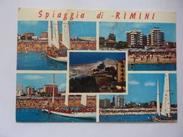 """Cartolina Viaggiata """"Spiaggia Di Rimini""""  1973 - Rimini"""