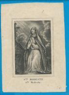 Holycard   St. Modeste - Imágenes Religiosas