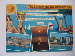 """Cartolina Viaggiata """"Telegramma Da RIVABELLA"""" 1997 - Rimini"""